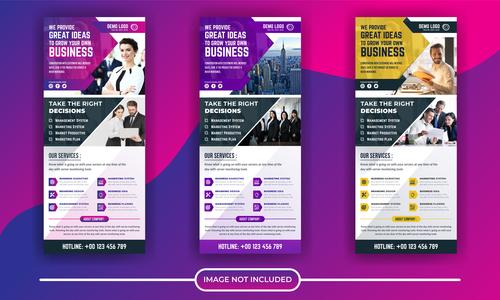 Business poster banner vector