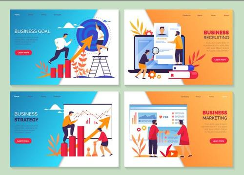 Business strategy cartoon illustration vector