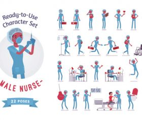 Busy emergency department nurse vector