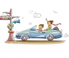 Car travel concept illustration vector