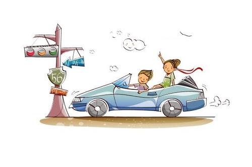 Car travel concept illustration vector