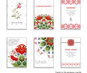 Card cover floral ukrainian pattern vector