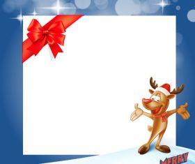 Cartoon Christmas greeting card vector