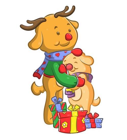 Cartoon illustration gift for children vector