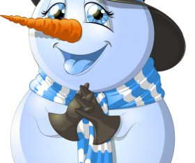 Cartoon snowman vector