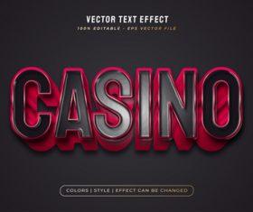 Casino 3d editable text vector