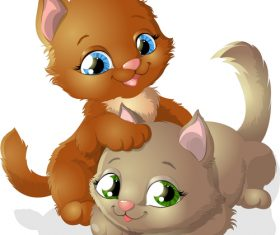 Cat buddy cartoon vector