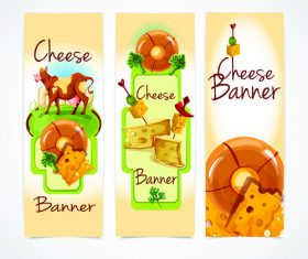 Cheese banner vector