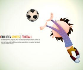 Children Football illustration vector