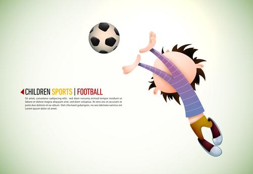 Children Football illustration vector