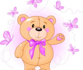 Childrens gift teddy bear vector