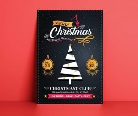Christmas Flyer Template vector