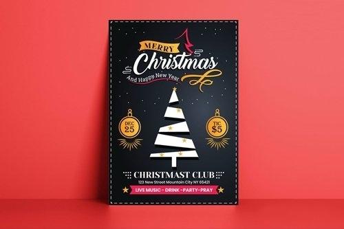Christmas Flyer Template vector