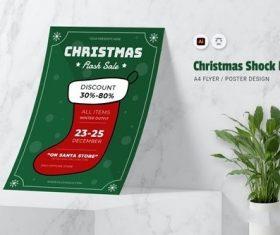 Christmas Shock Flyer vector