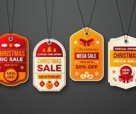 Christmas big sale label vector