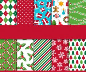 Christmas elements seamless pattern background vector