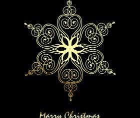 Christmas flower greeting card vector