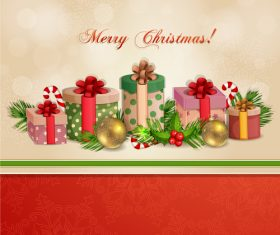 Christmas gifts for family vector