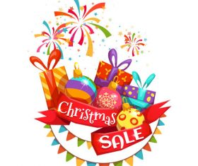 Christmas promotion sticker vector