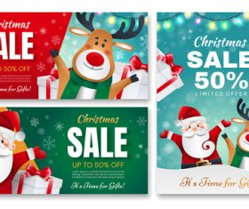 Christmas sale instagram template vector