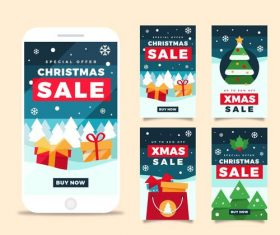 Christmas sale poster vector on instagram