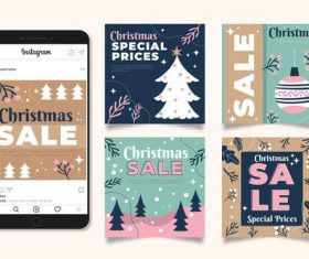 Christmas sale vector on instagram