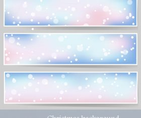 Christmas snowflake background banner vector