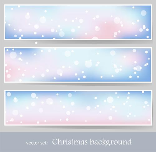 Christmas snowflake background banner vector
