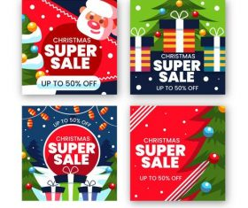Christmas super sale vector