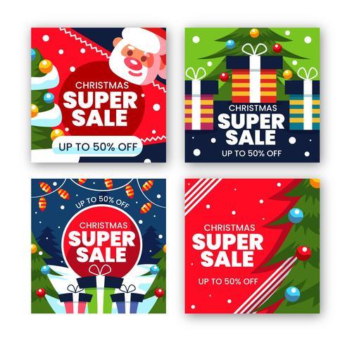 Christmas super sale vector