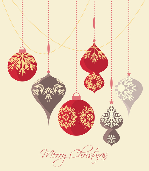 Christmas tree decoration pendant vector