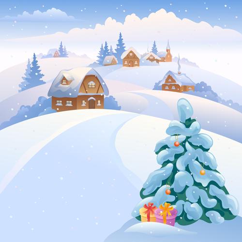 Christmas tree illustration vector