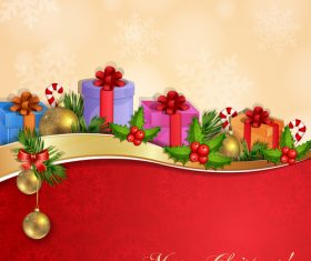 Christmas various gift cards vector