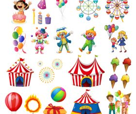 Circus element cartoon vector