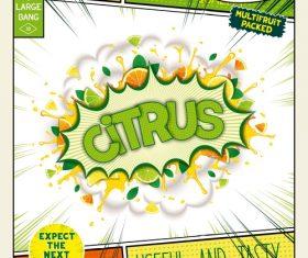 Citrus comic bang vector