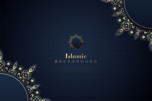 Classic flower decoration background vector