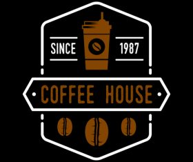 Coffee house badges logo vector