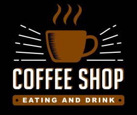 Coffee shop badges logo vector