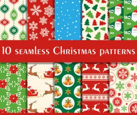 Color christmas elements seamless background vector