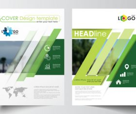 Color gradient cover brochure vector