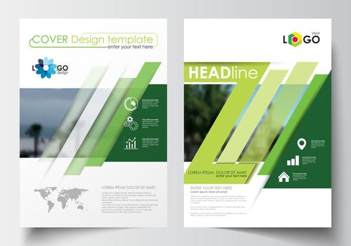 Color gradient cover brochure vector