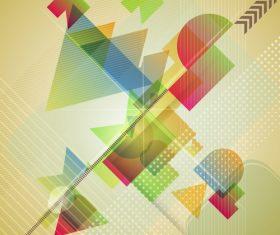 Color irregular abstract background svector