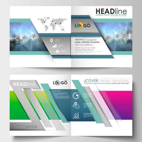 Colorful cover design template vector