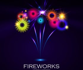 Colorful fireworks illustration vector