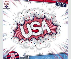 Comic bang USA vector