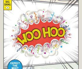 Comic bang WOOHOO vector