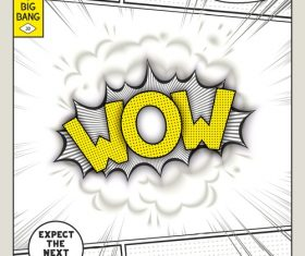 Comic bang WOW vector