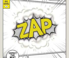 Comic bang ZAP vector