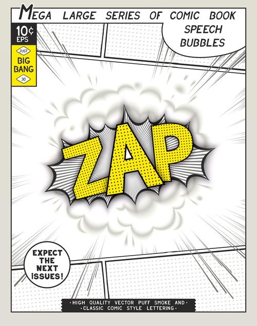 Comic bang ZAP vector
