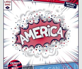 Comic bang american vector